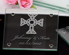 Cross Personalized Coaster Favors
