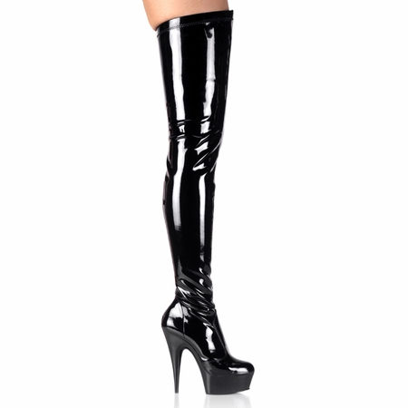 Pleaser Platform Stretch Thigh High Boots