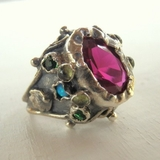 Handcrafted artisitc rings gemstones rings