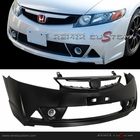 06-11 Honda Civic 4DR Sedan MUGEN RR Front Conversion Kit Bumper with Fog Lights