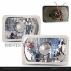 "Universal 4"" x 6"" Square Headlights  with H4 Super White Bulbs"