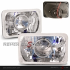 """Universal 4"""" x 6"""" Projector Lamp with Super White H4 Bulbs"""