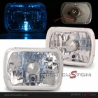 "Universal 7""x 6"" Square Headlights with H4 Super White Bulbs"