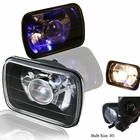 "Black 7""x6"" Projector Headlight  with H1 Super White Bulbs"