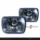 Universal 7 x 6 Seal Beam Headlights Blue