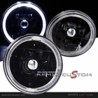 "5"" Round Halo Headlights Black w/H4 Bulbs"