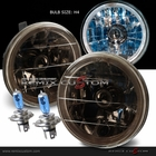 """Univeral 5"""" Round LED Halo Replacement Headlights - Smoke"""