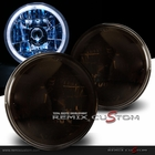 """Univeral 7"""" Round LED Halo Replacement Headlights - Smoke"""