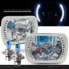 "Universal 7""x6"" Diamond Cut DRL SMDx20 White LED Projector Headlights"