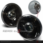 "UNIVERSAL 7"" Round Black Projector Headlights with H4 Bulbs"