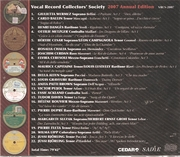 Vocal Record Collectors' Society � 2007 Issue (VRCS 2007)