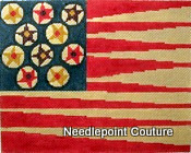 Star Flower Flag Needlepoint Canvas