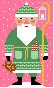 Green Santa Needlepoint Canvas
