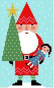 Red Santa Needlepoint Canvas