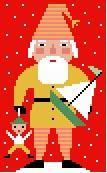 Gold Santa Needlepoint Canvas