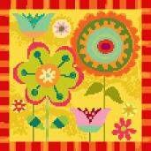 Fall Garden Needlepoint Canvas