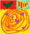 Dizzy Love Needlepoint Canvas