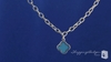 Phillip Gavriel Turquoise Clover Pendant Necklace in Sterling Silver - Free Shipping|ShoppingBadger.com