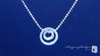 Petite Diamond CZ Double Circle of Love Pendant Necklace in Sterling Silver, 16