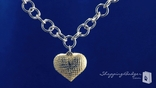 Sterling Silver & 14K Gold Heart Pendant with Rolo Chain Necklace, 18 inch