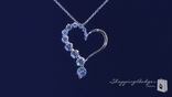 "CZ Journey Open Heart Necklace in Sterling Silver, Adjustable 16""-18"""