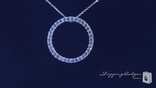 "CZ Circle of Life Eternity Necklace in Sterling Silver, Adjustable 16""-18"""