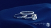 Cushion Cut CZ Solitaire 3 Piece Ring Set in Sterling Silver, Sizes 6-9 - Free Shipping | ShoppingBadger.com