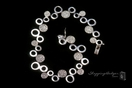 Sterling Circle and Pave CZ Circle Bracelet