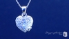 Petite Sterling Silver Pave Cubic Zirconia Heart Locket Necklace: ShoppingBadger.com