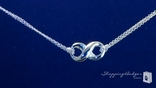 Designer Inspired Infinity Necklace in Sterling Silver, 16""