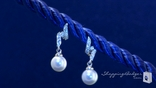 Sterling Silver Vintage Style CZ Pearl Drop Earrings
