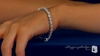 Diamond CZ Flower Tennis Bracelet in Sterling Silver, 7