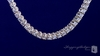 Four Prong 3mm Round CZ Tennis Necklace in Sterling Silver - Free Shipping ShoppingBadger.com