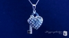 Sterling Silver Pave CZ Heart Lock Pendant Necklace - Free Shipping|ShoppingBadger.com