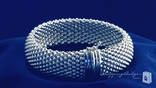 17mm Mesh Bracelet in Sterling Silver, 7.5""