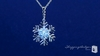 CZ Snowflake Pendant Necklace in Sterling Silver, Adjustable 16