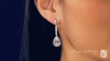 Sterling Silver Pear Drop CZ Earrings - Free Shipping|ShoppingBadger.com
