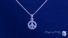 Sparkling Petite CZ Peace Sign Necklace in Sterling Silver, 16