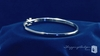 4mm Bangle Bracelet with .01 ct. Diamond in Sterling Silver, 7