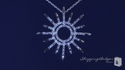 "CZ Sunburst Necklace in Sterling Silver, 16""-20"""