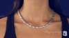 8mm Hugs & Kisses Necklace in Sterling Silver, 17