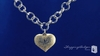 Sterling Silver & 14k Gold Heart Pendant with Rolo Chain Necklace, 18 inch - Free Shipping | ShoppingBadger.com