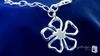 Flower Charm Bracelet in Sterling Silver, 7