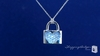 Diamond CZ Pave Heart Lock Pendant Necklace in Sterling Silver, 16