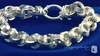 Sterling Silver Chunky Triple Spiral Link Circle Cable Bracelet, 8