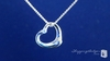 Sterling Silver Floating Heart Pendant Necklace with CZ: ShoppingBadger.com