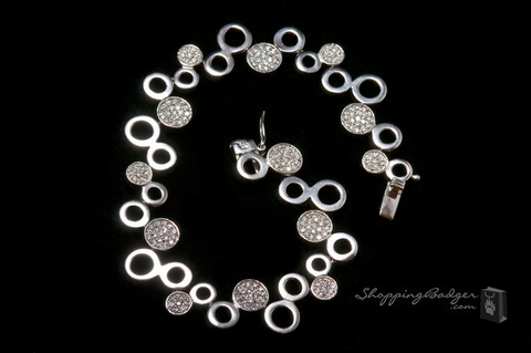 Sterling Circle and Pave CZ Circle Bracelet: ShoppingBadger.com