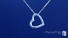 Pave Diamond Cut Floating Heart Necklace in 14K Gold - Free Shipping|ShoppingBadger.com