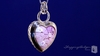 Millefiori Murano Glass Pink Heart Pendant Necklace in Sterling Silver, 18