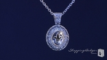 Phillip Gavriel 18K Gold Fleur de Lis Silver Pendant Diamond Necklace, 18""